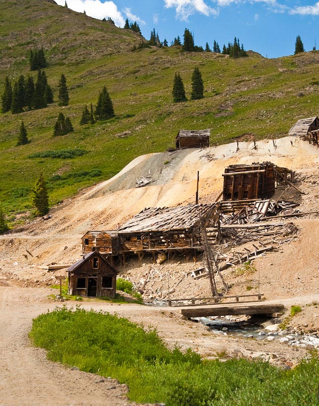 The Gold Prince Mill in Animas Forks, Colorado.