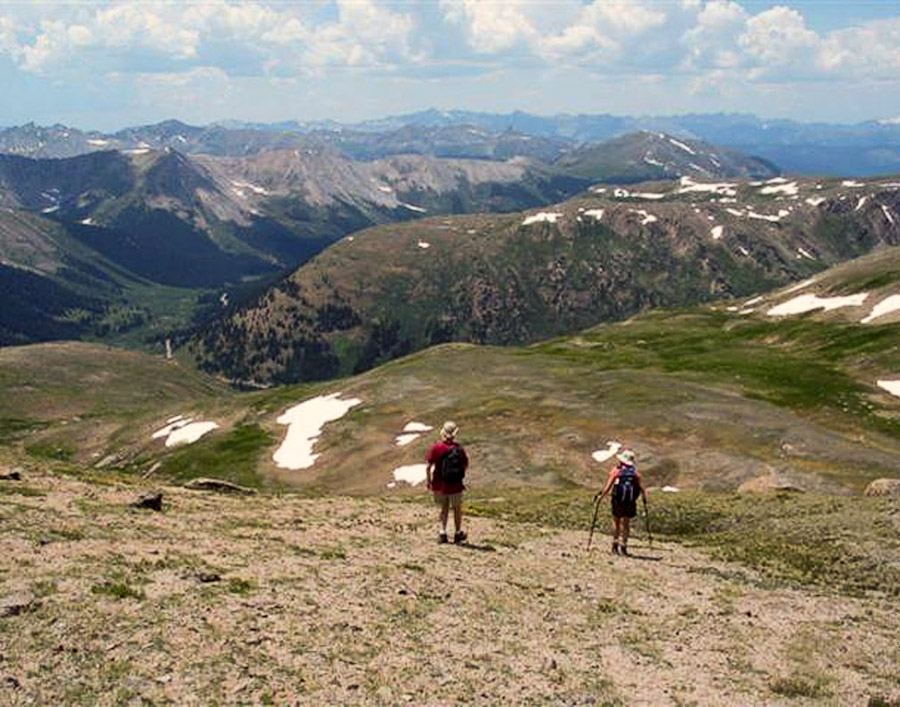 Hikers on Independence Pass.