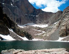 Longs Peak Diamond Face above Chasm Lake, CO