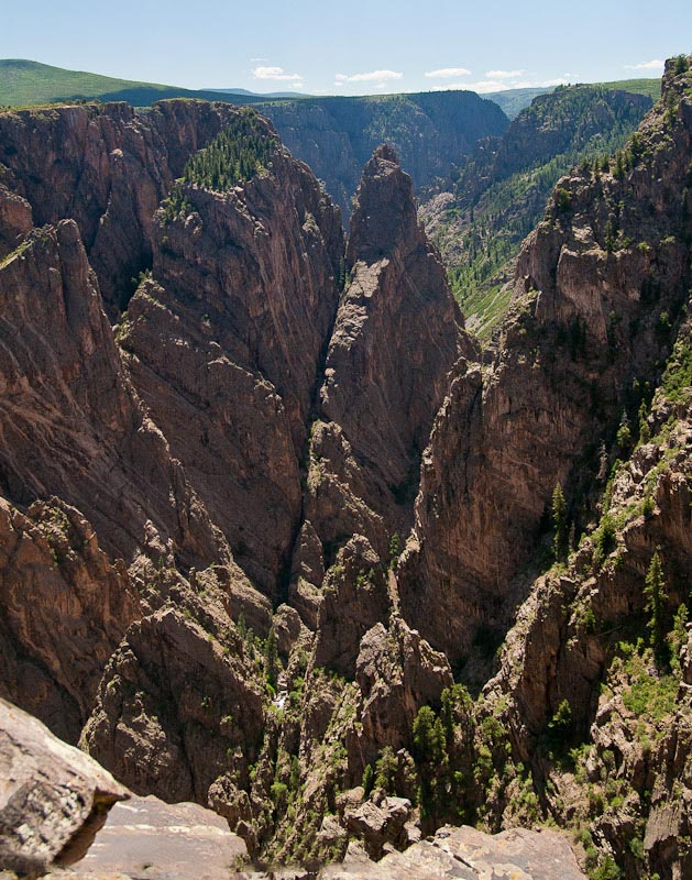 Looking into The Narrows of the Black Canyon of the Gunnison