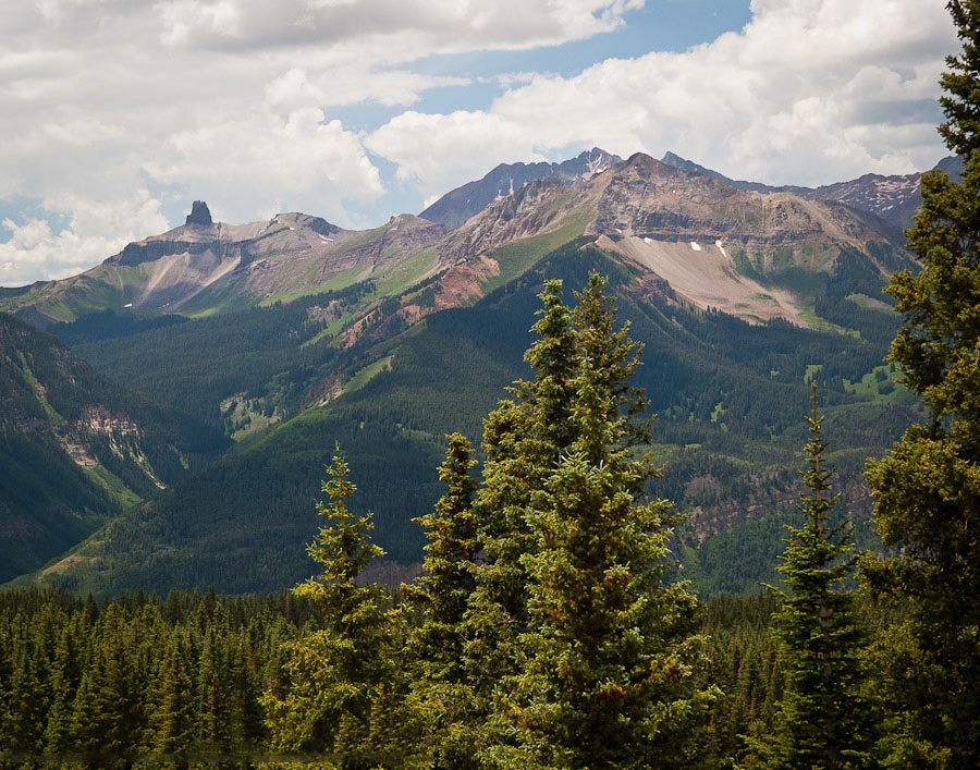 The Lizard Head formation from the Alta Lakes Road near Telluride, Colorado.