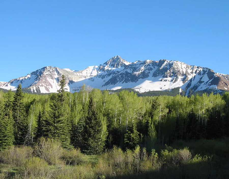 Mt Wilson from the Silver Pick Road near Telluride, Colorado.