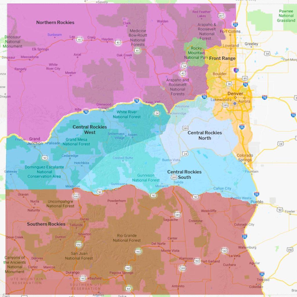 CO regions